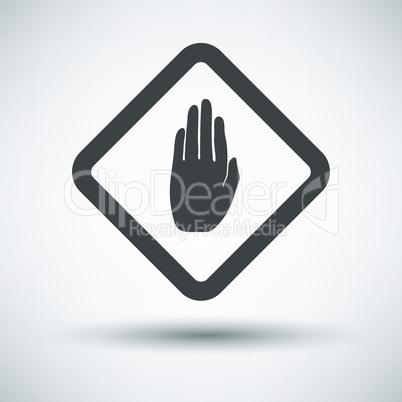 Warning hand icon