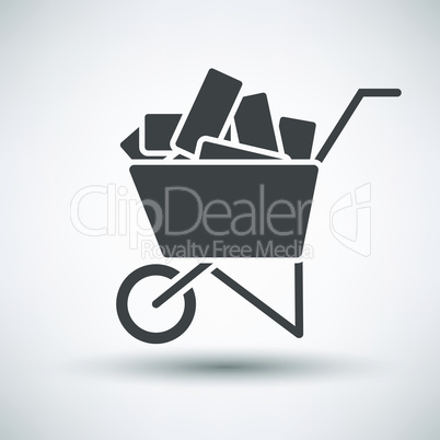 Construction cart icon