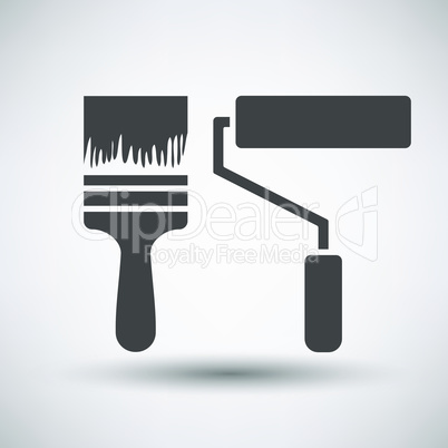 Construction paint brushes icon