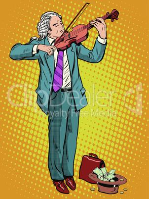 street musician violinist