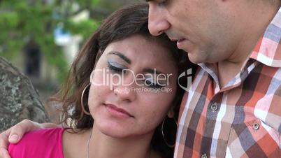 Anguished Woman Crying