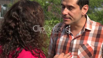 Adult Couple Arguing Outdoors