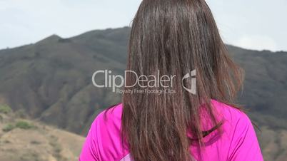 Young Woman Enjoying Mountains