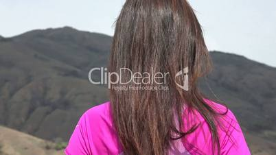 Attractive Woman In Mountains