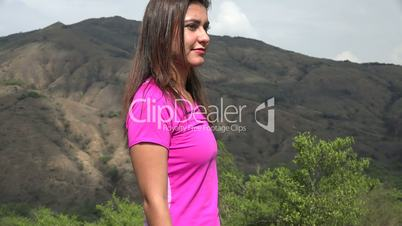 Woman Dancing In Mountains