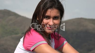 Happy Woman With Mountain Vista
