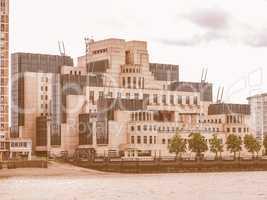 British Secret Service buidling vintage