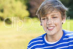 Happy Boy Male Child Teenager Smiling