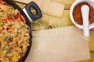 Spanish paella fish