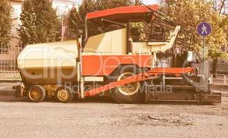 Asphalt machine vintage