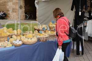 Marktstand in Alcudia, Mallorca