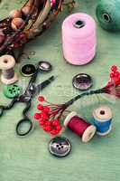 Tools and accessories for needlework.