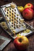 ripe aromatic apples for fruit salad