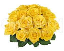 Yellow rose bouquet cutout