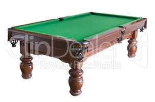 Billiard table cutout