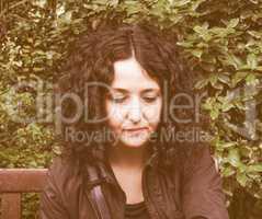 Gothic woman vintage