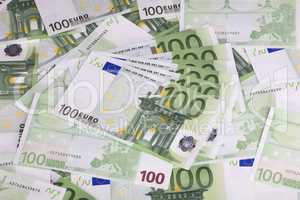 europe euros banknote of hundreds