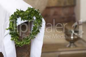 Laurel wreath for decoration in church