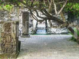Detail eines Pools auf Bali