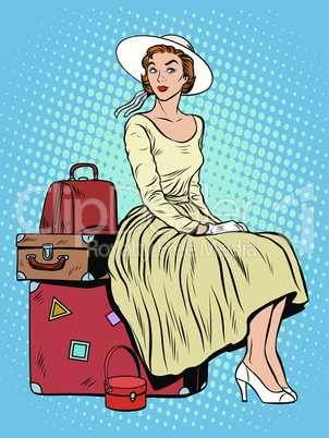 girl passenger baggage travel trip