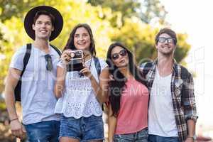 Hip friends in a trip