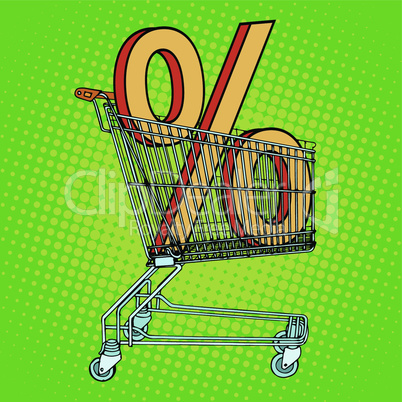 Grocery cart percentage discount