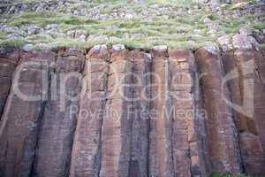 Basalt columns on Suduroy on the Faroe Islands