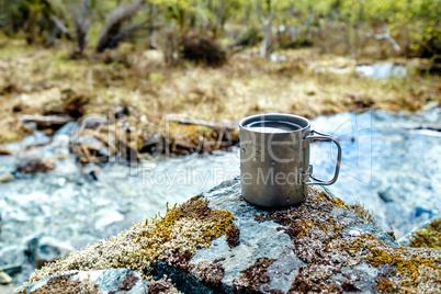 Travel titanium cup
