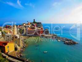 Village on Italian coast