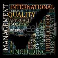 Word Cloud Management Concept