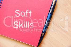 Soft skills write on notebook
