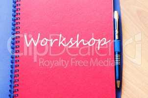 Workshop write on notebook