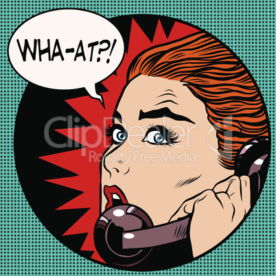 what a woman speaks on the phone