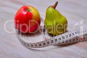 Abnehmen Apfel Birne Tee Maßband Diät