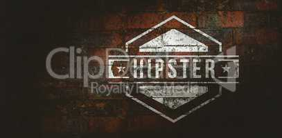 Composite image of hipster logo