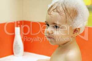 little cute baby wash shampoo