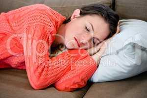 sleeping woman taking a nap