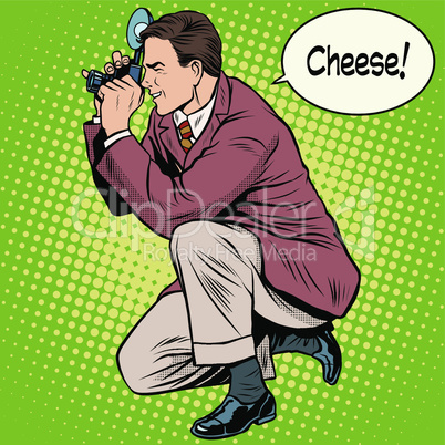 Photographer photographing cheese smile