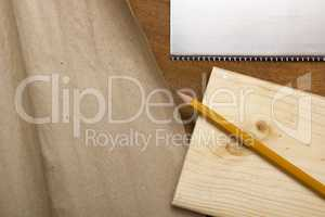 Board, pencil and paper packaging