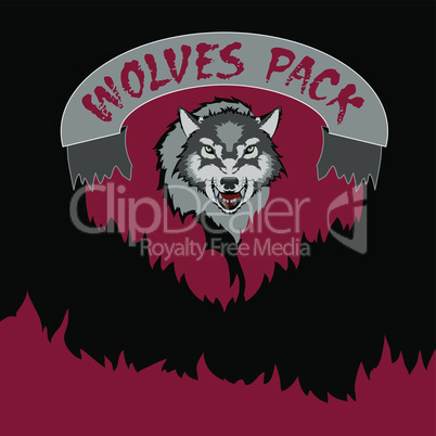 The emblem of the wolf