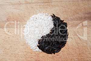 Yin Yang Rice Symbol