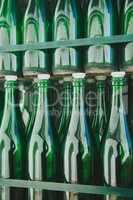 Empty green bottle pattern
