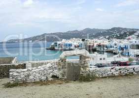 View of Mykonos, Greece