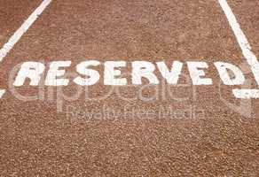 Reserved parking sign vintage