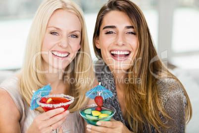 Portrait of beautiful women having mocktail