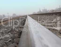 Rails, stretching to the horizon