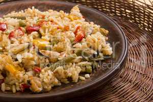 National dish of Spain - Fish paella