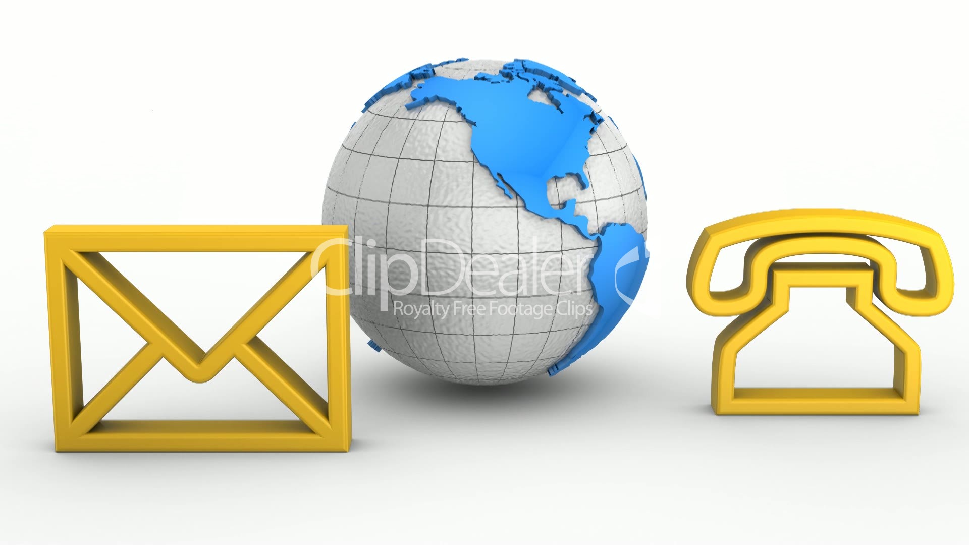 Contact Us Animation Royaltyfree Video And Stock Footage - Free us map mail