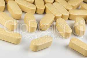 Vitamin tablets.