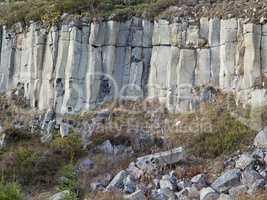 Basalt columnar jointing